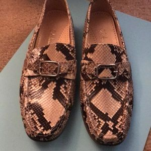 Cole Haan python loafer- size 10